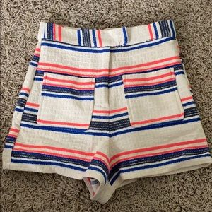 Women's Topshop Striped Cotton Shorts, Sz 2